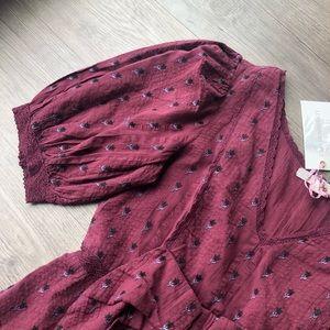 LoveShackFancy Dresses - LoveShackFancy | Lena Floral Dress in Spice
